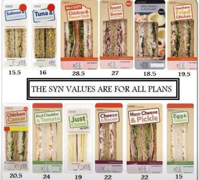 Sandwich from supermarkets syn values handy if you're following slimming world. Although I'm assuming they're not taking into account HeXB and A's