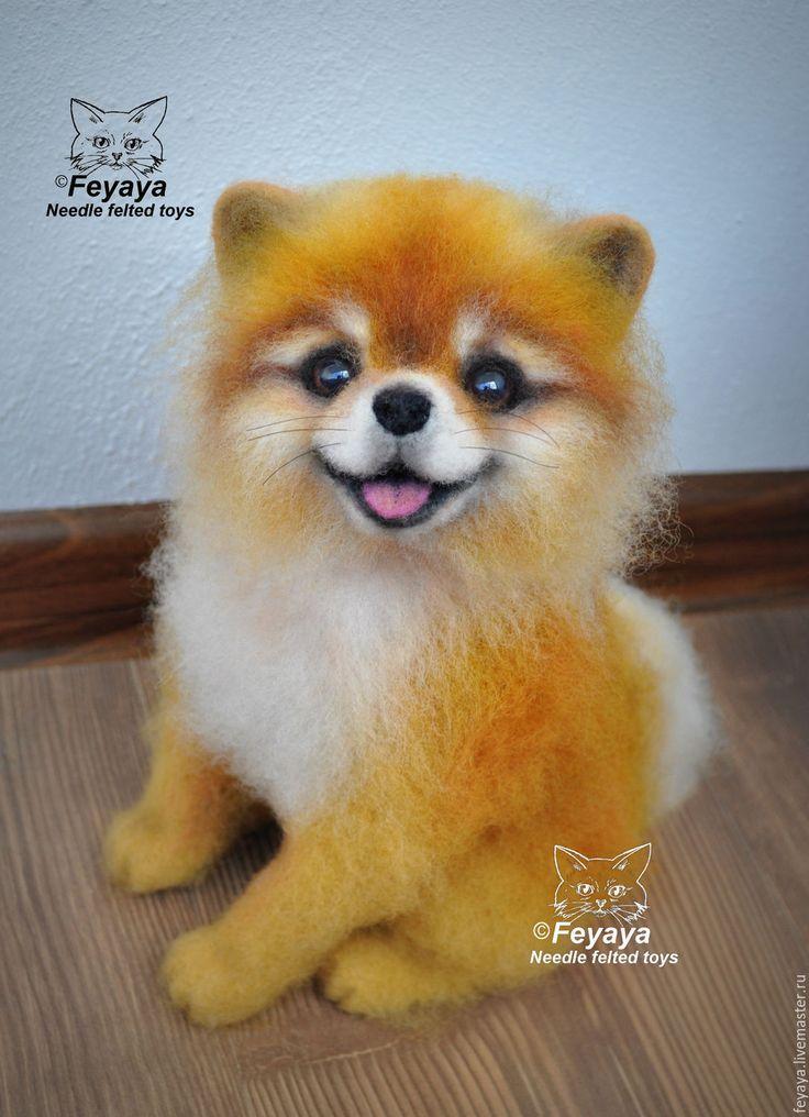 Купить Шпиц рыжий - рыжий, шпиц, собака, песик, пес, собачка, питомец, подарок, шерсть