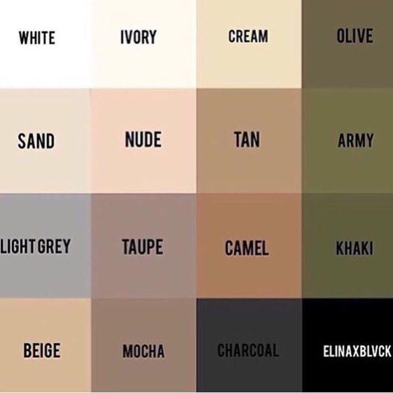 sand, nude, light grey, taupe