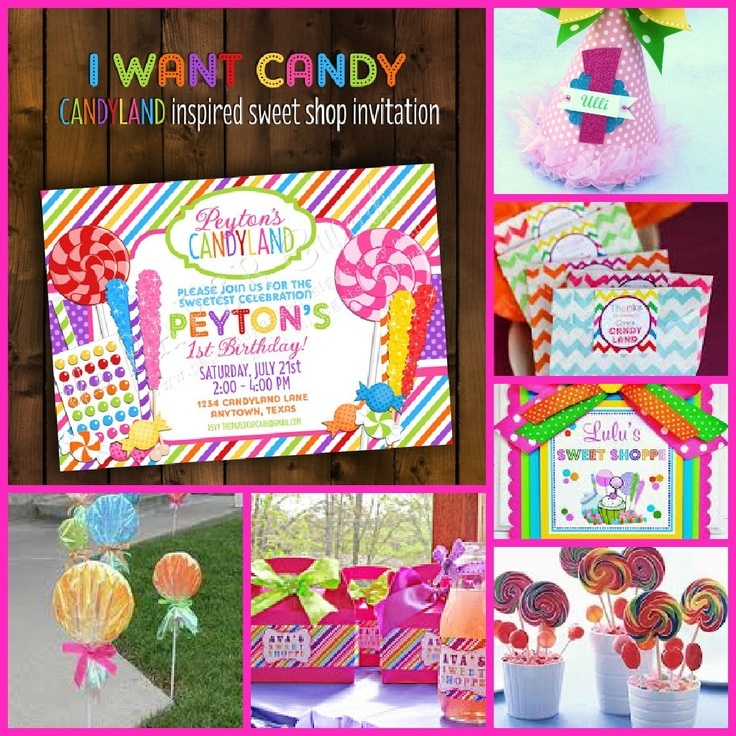 95 best Candy Land Party images on Pinterest | Party supplies ...