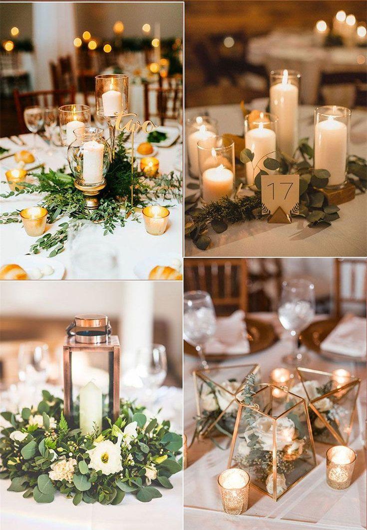 37 Romantic Greenery Wedding Centerpieces For 2020 Weddinginclude Cheap Wedding Table Centerpieces Wedding Table Centerpieces Wedding Centerpieces Diy