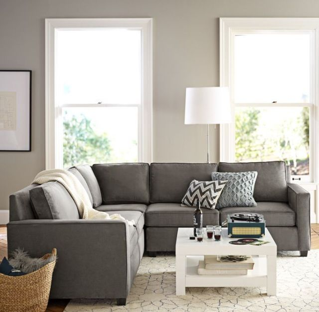 Love these colors. Henry leather sectionals.