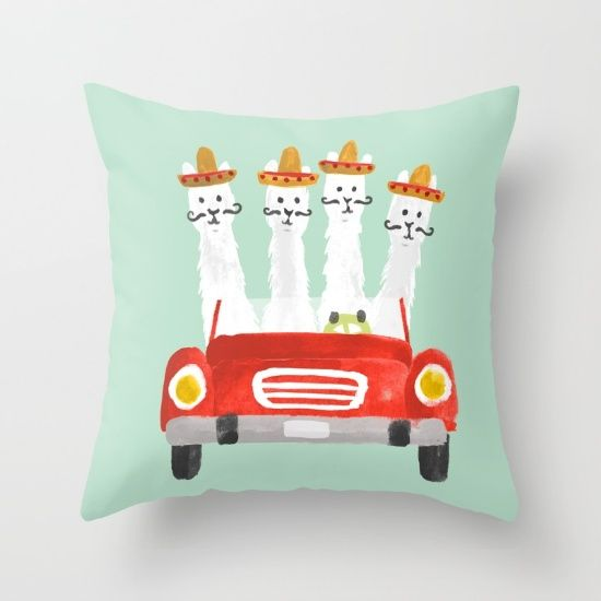in a car to Tijuana.<br/> <br/> llama, car, cute, funny...