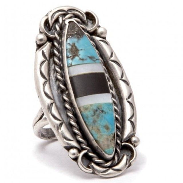 One Only! Vintage Navajo Sterling Silver Ring! Free World Delivery!! At www.iheardtheyeatcigarettes.com xxx #jewelry #jewellery #ring #rings #boho #hippy #hippie #gypsy #love