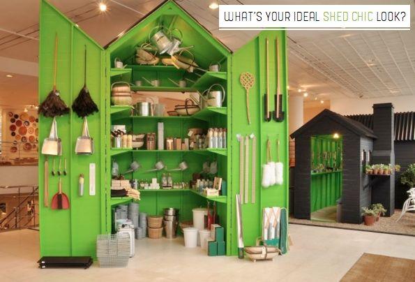 Bright.Bazaar: The Conran Shop: Shed Chic Window Display