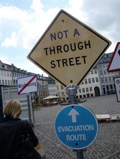 Not A Through Street / Evacuation Route
