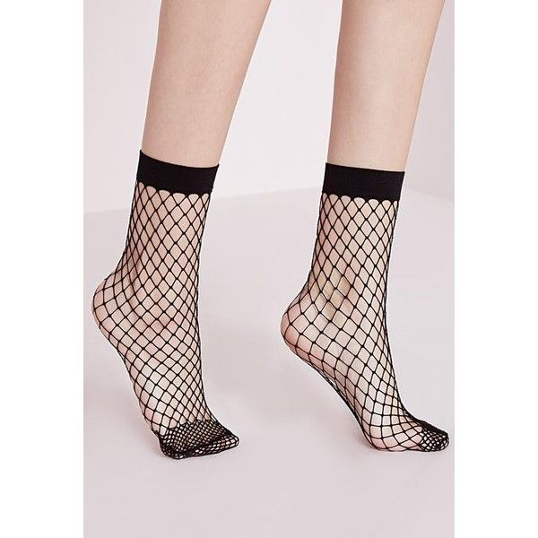 Missguided Oversized Fishnet Ankle Socks ($6) ❤ liked on Polyvore featuring intimates, hosiery, socks, black, fishnet socks, fishnet ankle socks, short socks, tennis socks and chunky socks