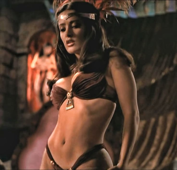 "Salma Hayek as Santanico Pandemonium in ""From Dusk Till Dawn"", 1996 #actor #still"