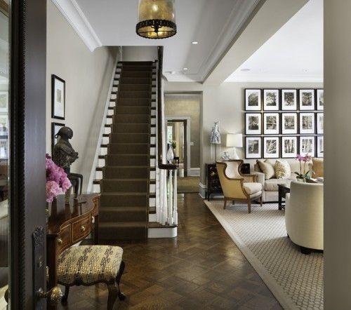 dark carpet on stairs
