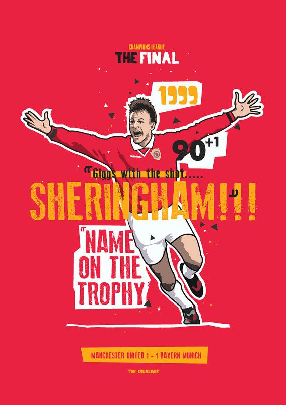 Teddy Sheringham 1999 The Equaliser by KieranCarrollDesign