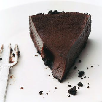 Chocolate truffle tart.