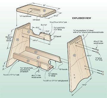 wooden-step-stool-plans-free.jpg (360×330)  sc 1 st  Pinterest & 271 best batch images on Pinterest | Furniture legs Plate and ... islam-shia.org
