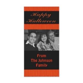 Happy Halloween photocard. Add your own photograph and messageHalloween Stripes, Halloween Photocards, Happy Halloween