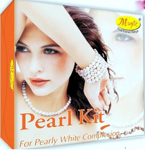 Nature's Essence Pearl Facial Kit Mini Cleansing Gel, Skin Whitening Cream 42 g #NATURESESSENCE