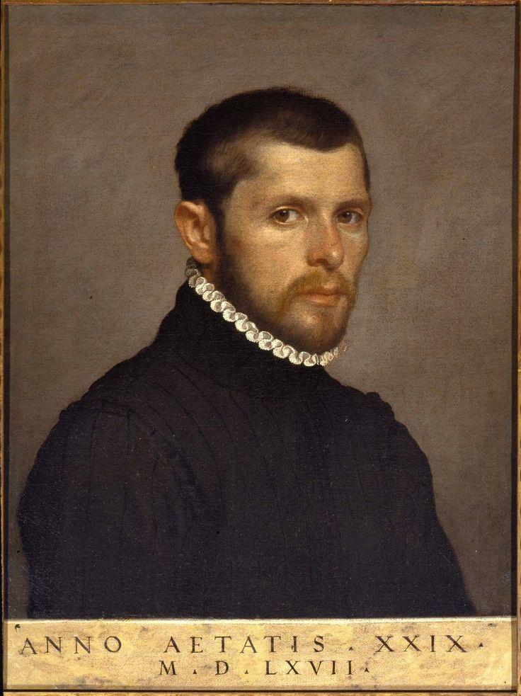 Giovan Battista Moroni,   Ritratto di gentiluomo ventinovenne, 1567,     oil on canvas,   Guglielmo Lochis, 1866
