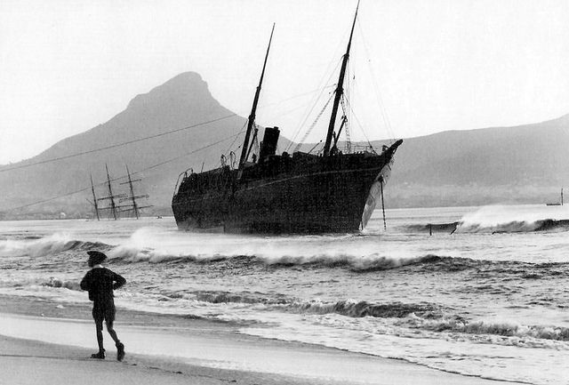 S.S. City of Lincoln Stranded at Salt River, Cape Town 1902