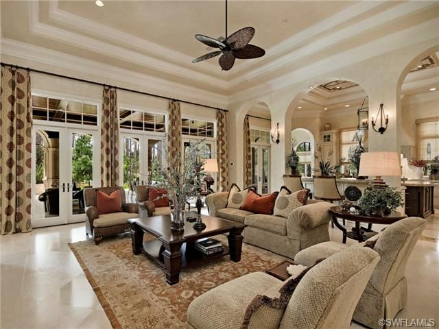 Best Naples Florida Luxury Living Rooms Images On Pinterest