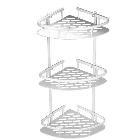 3 Tiers Shower Caddy Shelf Storage Basket Corner Rack Storage Bath