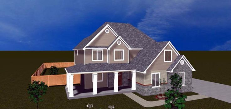 Elevation of house plan 50413 house plans pinterest for House plans with 5 car garage