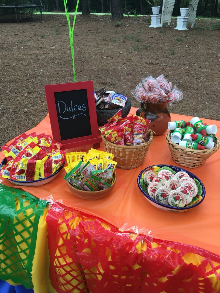 Fiesta Mexican candy table