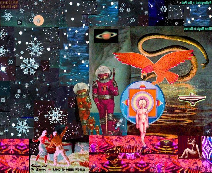 Aquarius Interdimensional  Collage on paper by Larry Carlson, 2007.