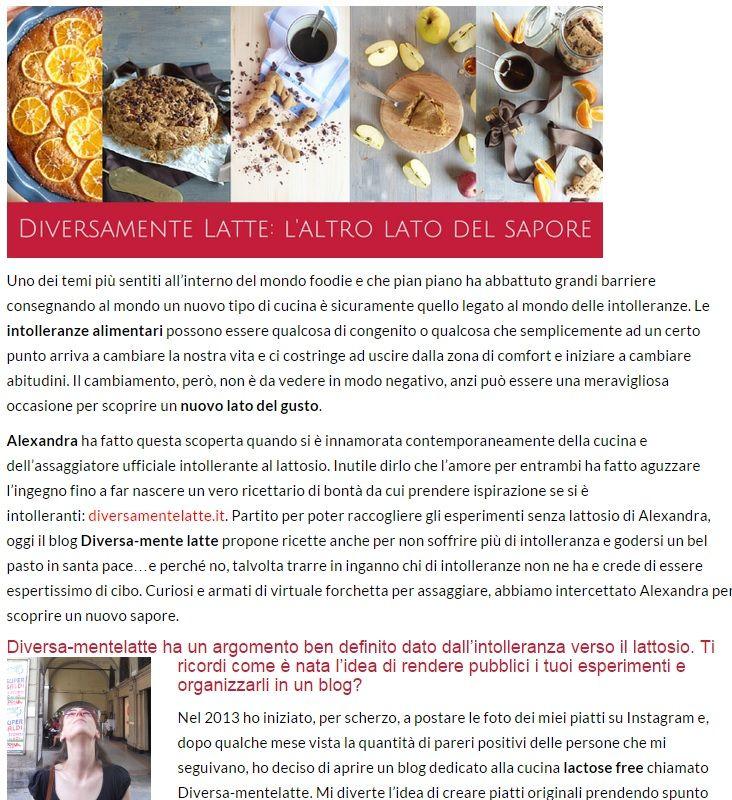 La nostra intervista #senzalattosio su www.peppermag.it ;-)