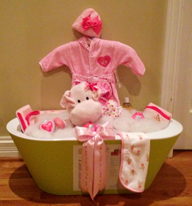 Baby Shower Bath Tub Basket Gift Ideas Pinterest