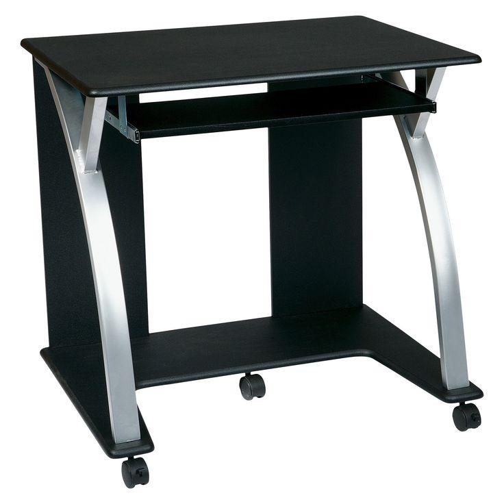 Computer Cart Black/Silver - Office Star