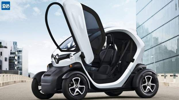 The Renault Twizy:a  rough idea of the mini-cars that could be up for rent by tourists, which has caused fury among taxi drivers (Stock image)