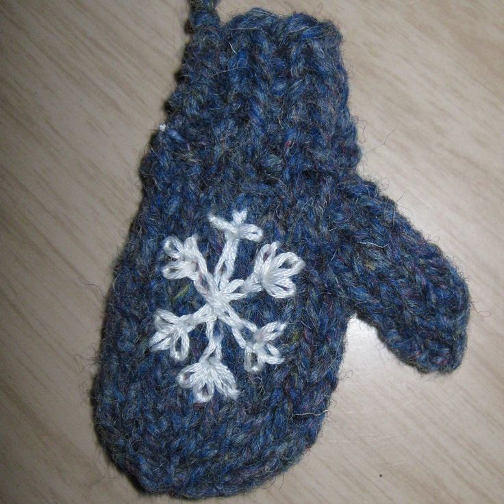 Snowflake Merry Mittens - Ornaments, Gifts, Decorations