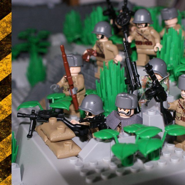 LEGO MOC of the Week - Russian Soldiers Advance Towards Battle by Little Legends Army