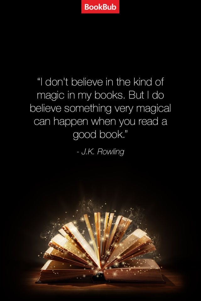 Lovely quote from Harry Potter author J.K. Rowling about the magic of books | 21 Quotes About Books