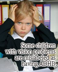 Is it a Vision Problem, Dyslexia, ADD or ADHD? Many symptoms of visual disorders mimic symptoms of dyslexia, ADD and ADHD. Many children and adults carrying the label of dyslexic, ADD or ADHD really have functional vision problems.