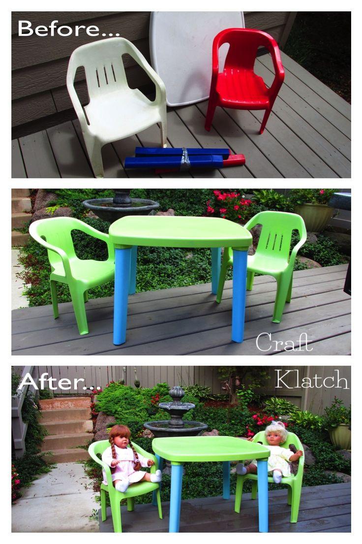 25 Unique Painting Plastic Furniture Ideas On Pinterest