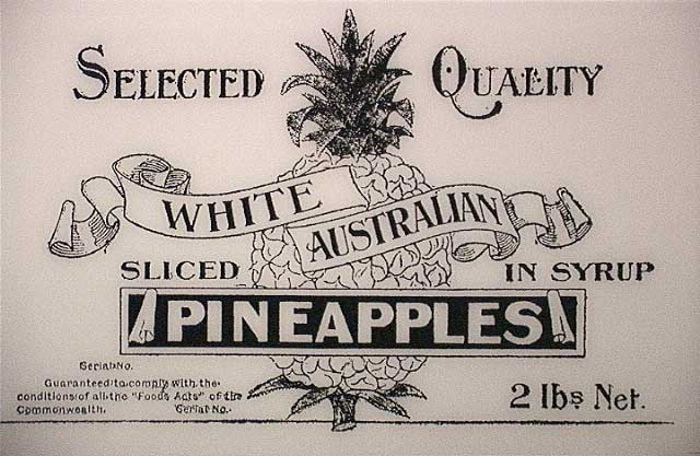 after the enactment of the racily discriminatory against south sea Islanders 'white Australia Policy' that made it illegal for South Sea Islanders to work on Australian plantations after 1901 they actually used the 'white labourer' as part of an advertising campaign for the products
