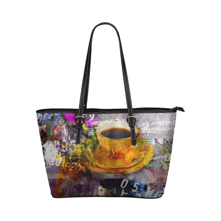 No Pastel Colors Here Leather Tote Bag/Small (Model 1651)