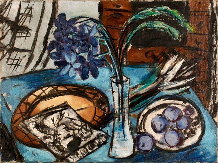 """amare-habeo: """"Max Beckmann - Still-life with the Blue Orchid (Stilleben mit blauen Orchideen), 1938 Oil on canvas Kunstmuseum Stuttgart, Germany """""""