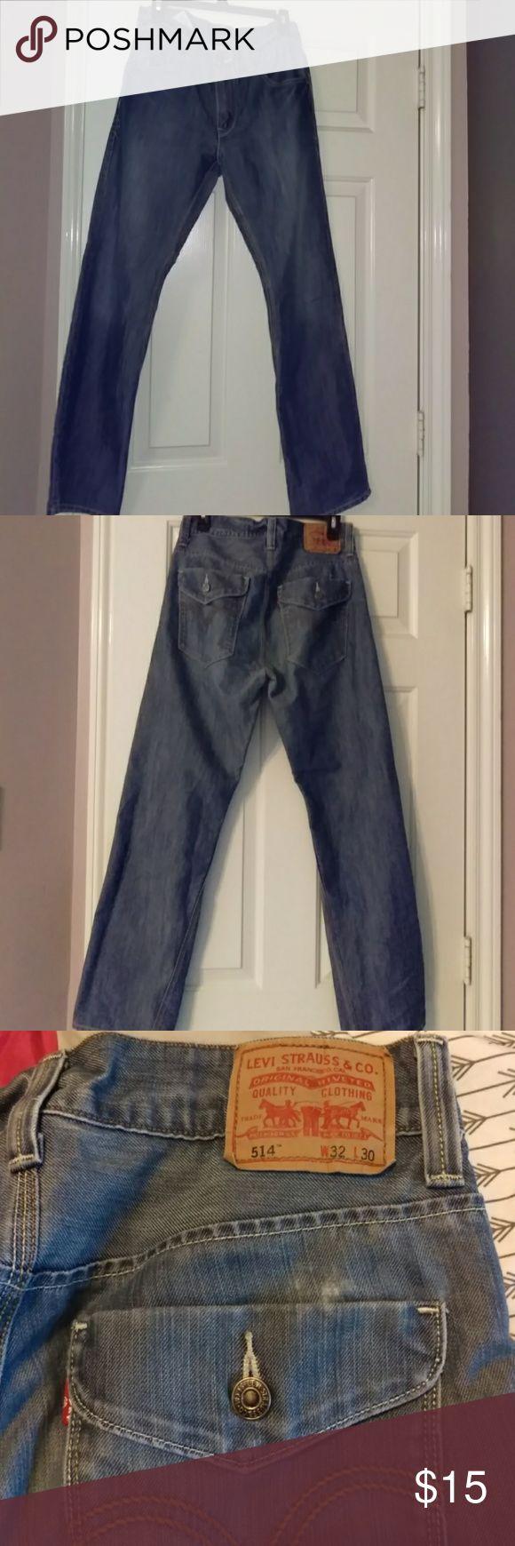 Men's Levi's 514 32/30 Blue Jeans Men's Levi's 514 32/30 Blue Jeans Levi's Jeans Straight