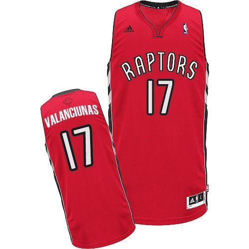 Men's NBA Toronto Raptors #17 Jonas Valanciunas Red Jersey