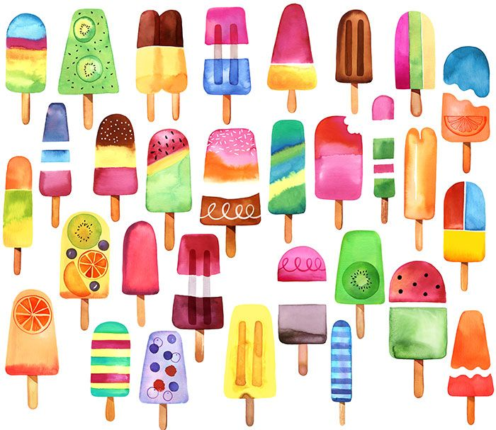 Margaret Berg Art: Summer Popsicles!