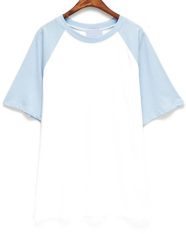 Shop Contrast Light Blue Short Sleeve T-Shirt online. SheIn offers Contrast Light Blue Short Sleeve T-Shirt & more to fit your fashionable needs.