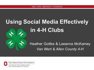 How can your 4-H Club use social media effectively?
