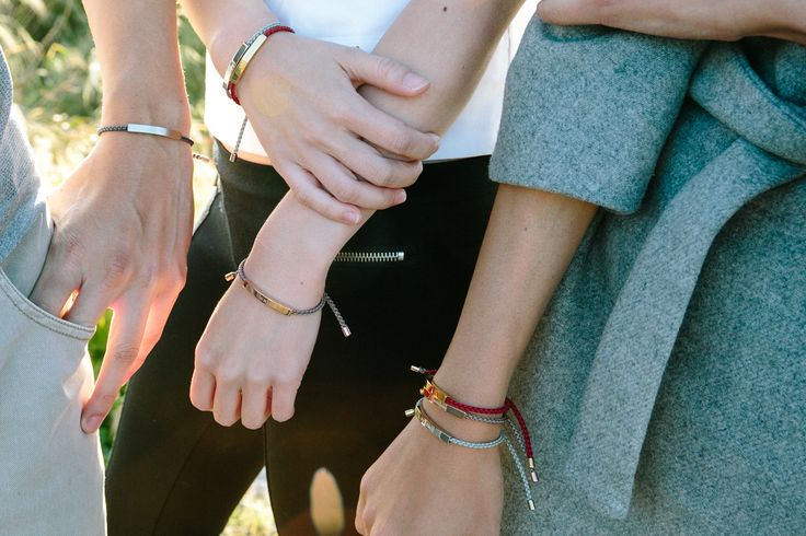 Minimalist, braided friendship bracelets, engraved with meaningful messages | The Mindful Company