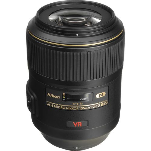 Nikon Telephoto AF Micro-Nikkor 105mm f/2.8G ED-IF AF-S VR (Vibration Reduction) Autofocus Lens