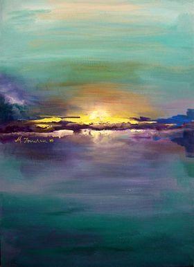 """Blue Sunset"" by Mihaela Ionescu"
