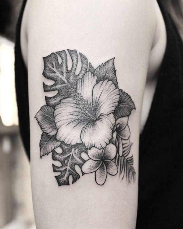 Tatuaz Kwiat Hibiskusa Znaczenie Historia 80 Zdjec Tattoos Flower Tattoo Flowers