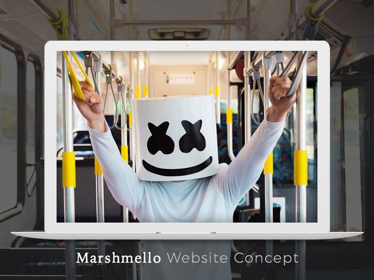 다음 @Behance 프로젝트 확인: \u201cMarshmello Website Design Concept\u201d https://www.behance.net/gallery/42675427/Marshmello-Website-Design-Concept