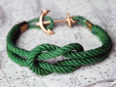 Kelly Green Rope Anchor Bracelet! Love!