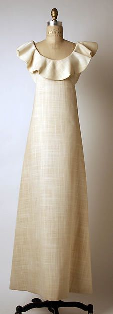Designer: Madame Grès (Alix Barton) (French, Paris 1903–1993 Var region) Date:1965 Culture: French Medium: cotton