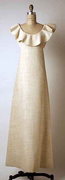 Designer: Madame Grès (Alix Barton) (French, Paris 1903–1993 Var region) Date:1965 Culture: French Medium: cotton